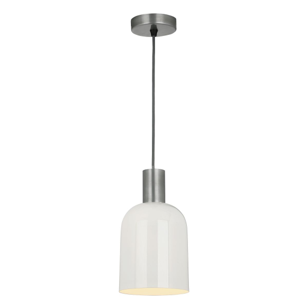 Dar Lighting HES0133 Hester 1 Light Pendant in Cream