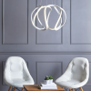Dar Lighting ALO012 Small Alonsa Pendant in White