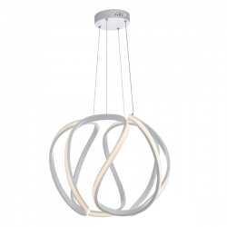 Dar Lighting ALO862 Alonsa Large Pendant in White