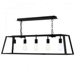 Dar Lighting ACA0522 Academy 5 light Pendant in Black