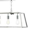 Dar Lighting ACA0544 Academy 5 Light Pendant in Stainless Steel
