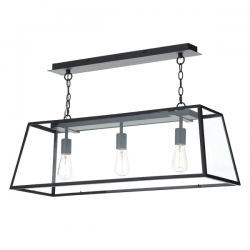 Dar Lighting ACA0322 Academy 3 Light Pendant in Black