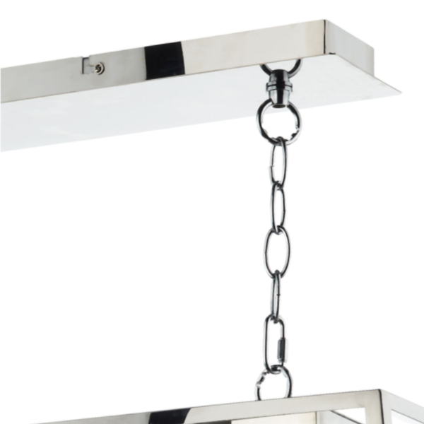 Dar Lighting ACA0344 Academy 3 Light Pendant in Stainless Steel