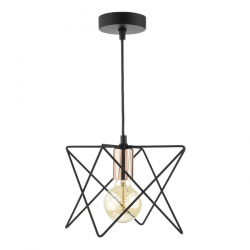 Dar Lighting MID0122 Midi 11 Light Pendant in Black and Copper