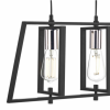 Dar Lighting DAX0350 Dax 3 Light Bar Pendant in Black and Chrome