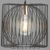 Dar Lighting TAP0122 Taplow 1 Light Pendant in Black and Copper
