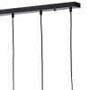 Dar Lighting MID0550 Midi 5lt Bar Pendant in Black & Chrome