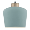 Dar Lighting SUL0123 Sullivan 1 Light Pendant Blue Grey and Copper