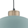 Dar Lighting SUL0123 Sullivan 1 Light Pendant Blue Grey and Copper