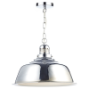 Dar Lighting NAN0150 Nantucket 1 Light Pendant Polished Chrome