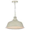 Dar Lighting NAN0133 Nantucket 1 Light Pendant Putty