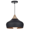 Dar Lighting GAU0122 Gaucho 1 Light Pendant Black