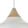 Dar Lighting GAU0102 Gaucho 1 Light Pendant White