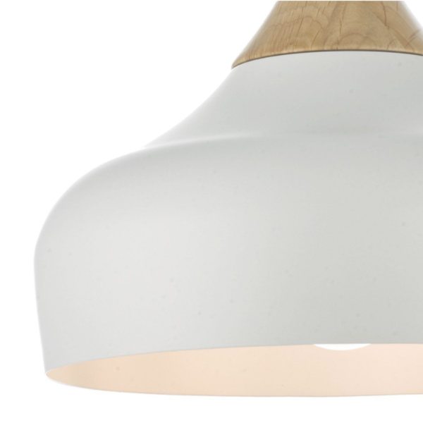 Dar Lighting GAU8602 Gaucho 1 Light Pendant White Large