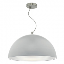 Dar Lighting JAR0139 Jarama 1lt Pendant Grey & Silver