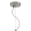Dar Lighting JAR0139 Jarama 1lt Pendant Grey & Silver