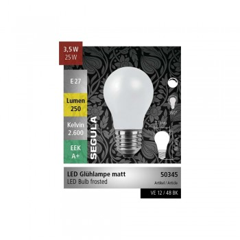 Segula 50345 Vintage Line 3.5W Dimmable E27 Frosted A15 LED Bulb