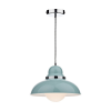 Dar DYN0123 Dynamo 1 Light Pendant Blue