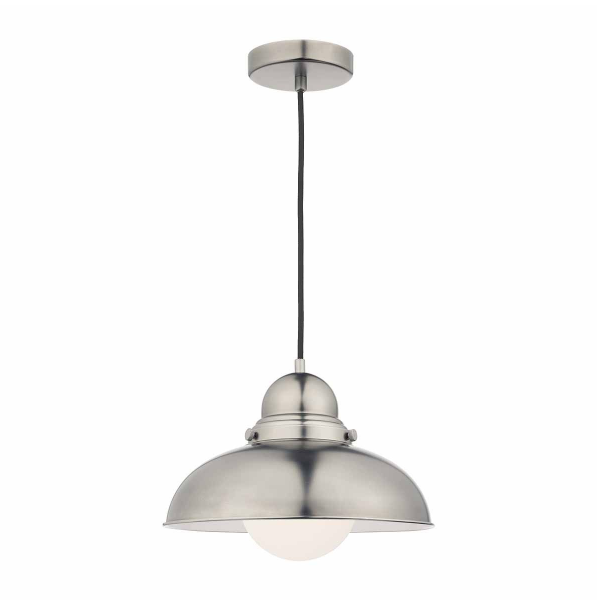 Dar Lighting DYN0161 Dynamo 1 Light Pendant Antique Chrome