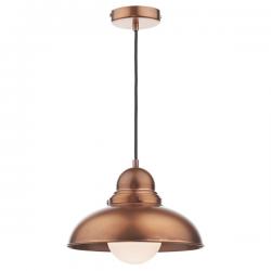 Dar Lighting DYN0164 Dynamo 1 Light Pendant Antique Copper