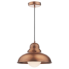 Dar Lighting DYN0164 Dynamo 1 Light Pendant Antique Copper