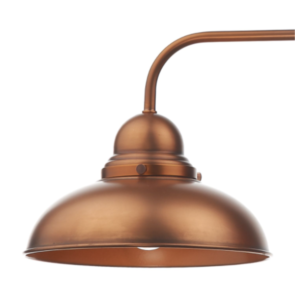 Dar Lighting DYN0364 Dynamo 3 Light Bar Pendant Antique Copper