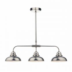 Dar Lighting DYN0361 Dynamo 3 Light Bar Pendant Antique Chrome