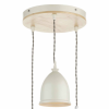 Dar Lighting BLY0343 Blyton 3 Light Spiral Pendant complete with Painted Shades