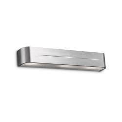 Ideal Lux 009933 POSTA AP3 Indoor Wall Light in Brushed Aluminium