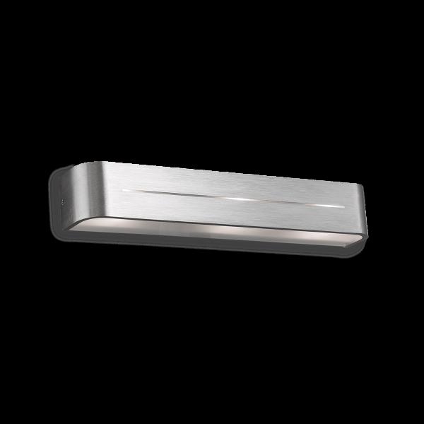 Ideal Lux 009933 POSTA AP3 Indoor Wall Light in Brushed Aluminium