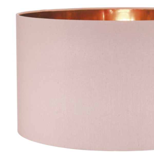 Dar Lighting TIM6503 Timon Easy Fit Pendant Pink With Copper Lining