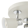 Dar Lighting FRY7633 Fry 3 Light Round Plate Spot Cream