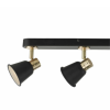 Dar Lighting FRY8454 Fry 4lt Bar Black & Rose Gold