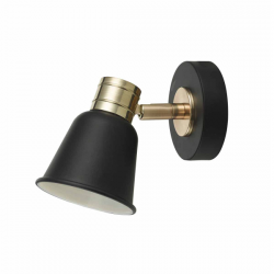Dar Lighting FRY0754 Fry 1lt Spotlight Black & Rose Gold