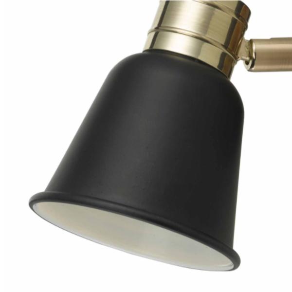 Dar Lighting FRY0754 Fry 1lt Spotlight Black & Rose Gold