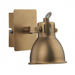 Dar Lighting IDA0775 Idaho Single Wall Bracket GU10 Natural Brass