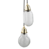 Dar Lighting LAS0540 Lashira 5lt Cluster Pendant Polished Brass & Glass