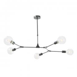 Dar Lighting EUP0539 Euphemia 5 Light Pendant Black