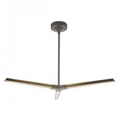 Dar Lighting ROT0363 Rotor 3lt Pendant Bronze LED