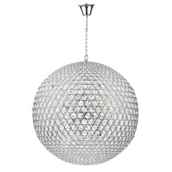 Dar Lighting FIE1250 Fiesta 12 Light 90CM Pendant Polished Chrome