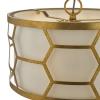 Dar Lighting EPS0312 Epstein 3 Light Pendant Gold & Ivory