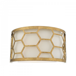 Dar Lighting EPS0712 Epstein 1 Light Wall Light Gold & Ivory