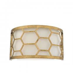 Dar Lighting EPS0712 Epstein 1 Light Wall Light Gold & Ivory