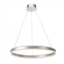 Dar Lighting TYB0132 Tybalt Pendant Silver & Acrylic LED