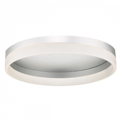 Dar Lighting TYB5032 Tybalt Flush Silver & Acrylic LED