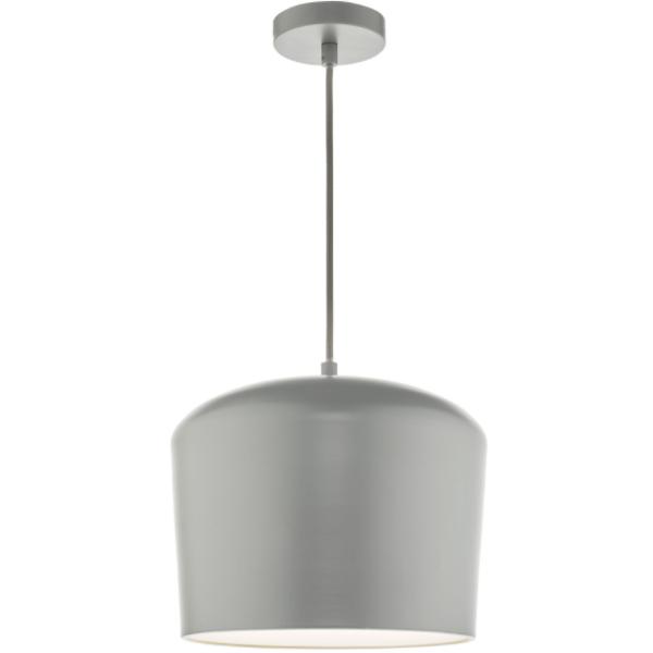 Dar Lighting LEN0139 Leno 1 Light Pendant Grey