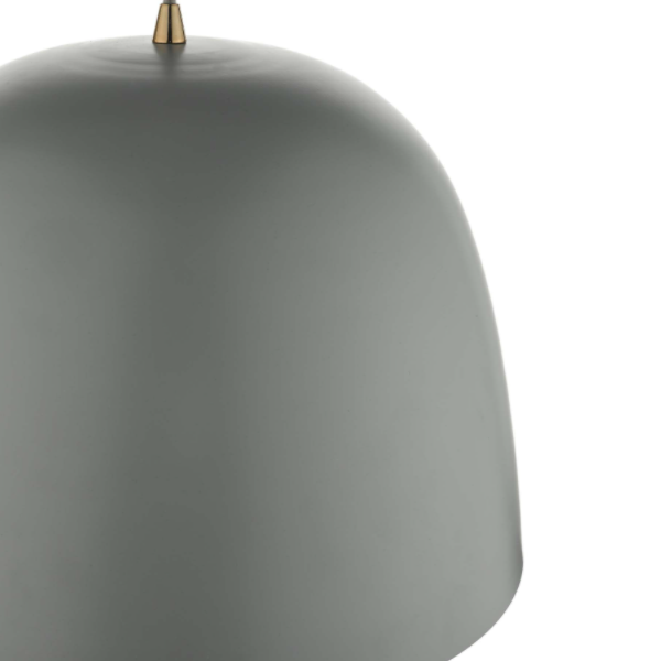 Dar Lighting BAJ8639 Baja 1 Light Pendant Large Grey