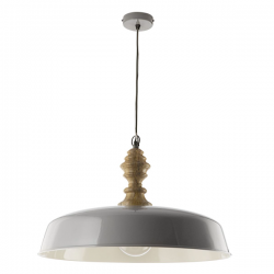 Dar Lighting VAD0139 Vadna Pendant Grey & Wood