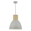 Dar Lighting ADN0139 Adna Pendant Grey & Wood