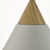 Dar Lighting ILO012 Ilory 1 Light Pendant Ivory And Natural Wood